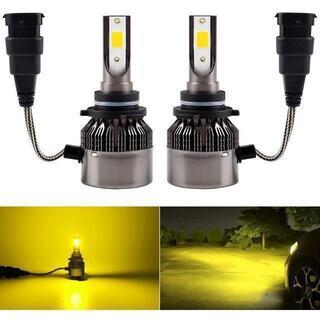LED フォグランプ HB4 9006 黄色 イエロー 3000K LEDバルブ(天井照明)