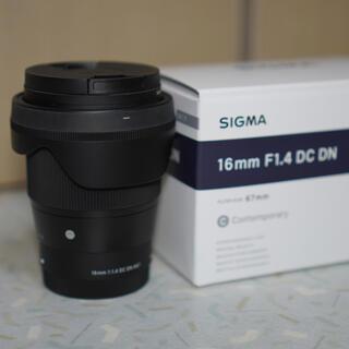 シグマ(SIGMA)の【美品】SIGMA 16mm F1.4 DC DN Sony Eマウント(レンズ(単焦点))