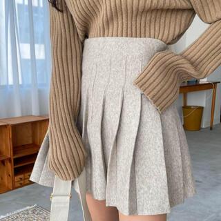 スタイルナンダ(STYLENANDA)のYILON high-waist knit pleats skirt(ミニスカート)