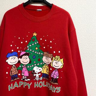 ピーナッツ(PEANUTS)の【90s】【オフィシャル】スヌーピー ヴィンテージ スウェットシャツ クリスマス(スウェット)