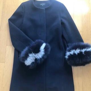 クイーンズコート(QUEENS COURT)のクイーンズコート フォックスファー付コート(毛皮/ファーコート)
