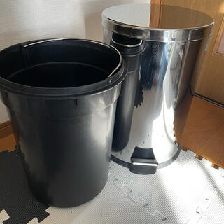 ステンレス ゴミ箱 ペダル式 20L(ごみ箱)