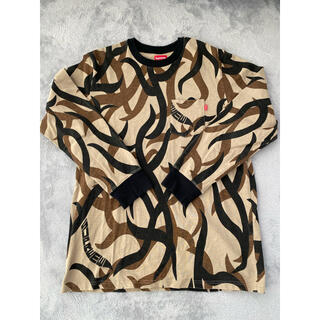 Supreme - XL Supreme Tribal camo pocket L/S Tee