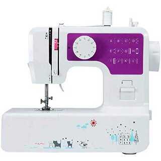 紫【2020最新型】電動ミシン 刺しゅうミシン 多機能ミシン 12種類の縫い方