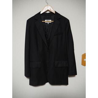 エムエムシックス(MM6)のMM6 マルジェラ ウールレーヨン切替ブレザー 1Bジャケット ブラック(テーラードジャケット)