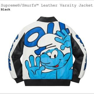 シュプリーム(Supreme)の【L】Smurfs Leather Varsity Jacket(レザージャケット)