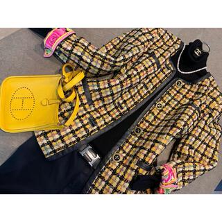 レオナール(LEONARD)の☆ 彡レオナール☆彡ラグジュアリーに着こなす極上ツイードジャケット(ノーカラージャケット)