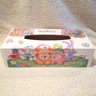 ダッフィー(ダッフィー)のTimeSale!ダッフィー&フレンズのセイチーズ!木製ティッシュケース☆BOX(ティッシュボックス)
