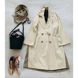 ザラ(ZARA)のZARA♡ビッグシルエット 切り替えボリューム袖コート美品(ロングコート)