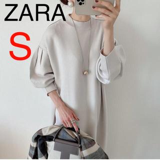 ZARA - ZARA オーバーサイズニットワンピース 新品 パフスリーブニットワンピース