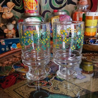 昭和レトロ Twist グラス 2個セット(グラス/カップ)