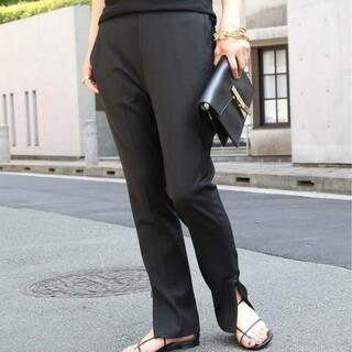 ドゥーズィエムクラス(DEUXIEME CLASSE)のmamama様、専用、スリットテーパードパンツ、38サイズ、ブラック(カジュアルパンツ)