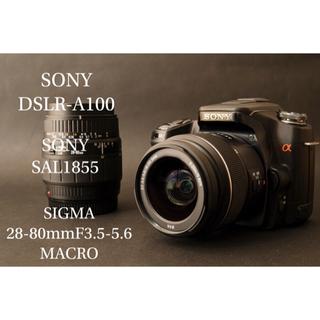 ソニー(SONY)の永遠の名機 SONY【a100  DSLR-A100】レンズセット(デジタル一眼)
