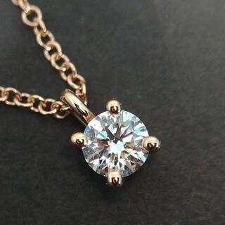 Tiffany & Co. - TIFFANY❤K18ローズ ソリティアダイヤモンドネックレス❤0.17