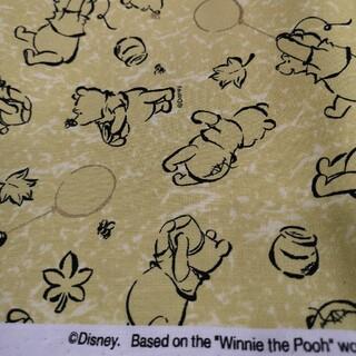 クマノプーサン(くまのプーさん)のプーさん 生地 帆布 イエロー ゴールド 11号 くまのプーさん 110×50(生地/糸)