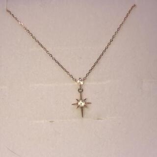 スタージュエリー(STAR JEWELRY)のK10ホワイトトパーズネックレス【最終値下】(ネックレス)