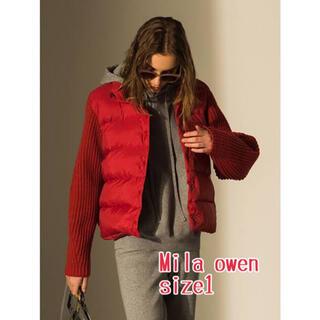 ミラオーウェン(Mila Owen)の⑧②⑨ Mila Owen ニットスリーブダウンジャケット(ダウンジャケット)