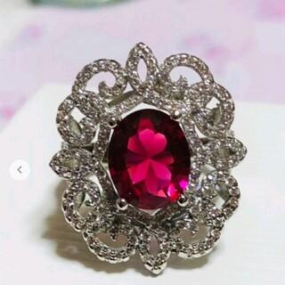 ★特別価格★最新作★大人気ピンクルビーCZリング(リング(指輪))