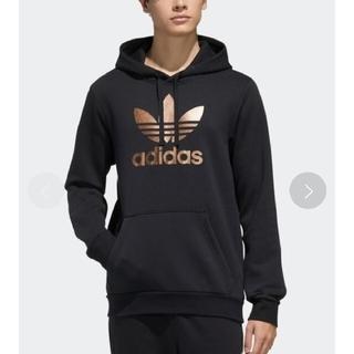 アディダス(adidas)のアディダス オリジナルス パーカー フーディー トレフォイル ゴールド(パーカー)