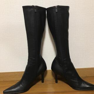 DIANA - [美品]特価 ダイアナ ロングブーツ 黒 23.5
