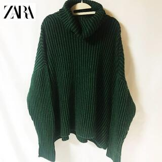 ZARA - 【ZARA】オフタートル ドロップショルダー リブニット タグ付未使用