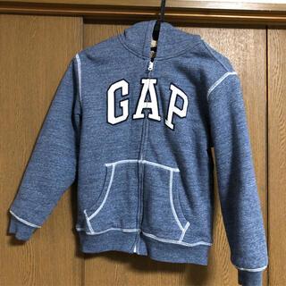 ギャップキッズ(GAP Kids)の美品 GAP ギャップ kids キッズ ロゴ ボアパーカー 140(ジャケット/上着)