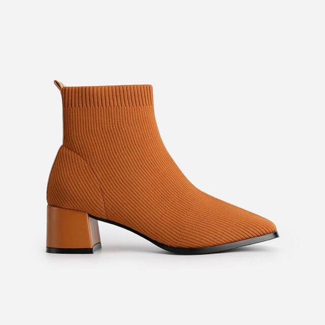 IENA(イエナ)の専用出品 ソックスブーツ&セレクトモカニットパンツ レディースの靴/シューズ(ブーツ)の商品写真