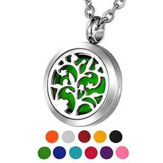 刻印なし20mmHOUSWEETY 生命の樹 レディース アロマペンダント ネッ(ネックレス)