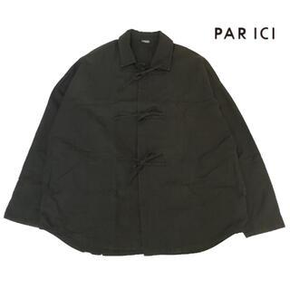 PAR ICI - PARICI リップストップ リボン ブラウス ジャケット カーディガン