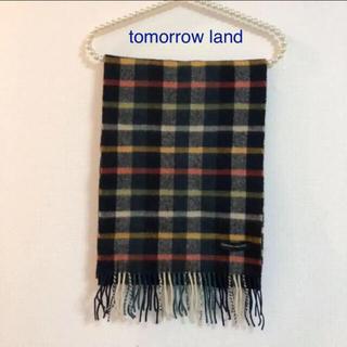 TOMORROWLAND - tomorrow land トゥモローランド。チェック柄 マフラー