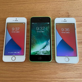 Apple - iPhone SE ×2、iphone5s 三台セット