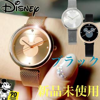 ディズニー(Disney)の【残り1点】ディズニー 腕時計 ブラック スワロフスキー ミッキー(腕時計)