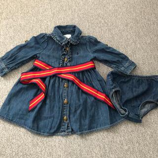 ラルフローレン(Ralph Lauren)のラルフローレン☆ベビー70サイズ デニムワンピース(ワンピース)