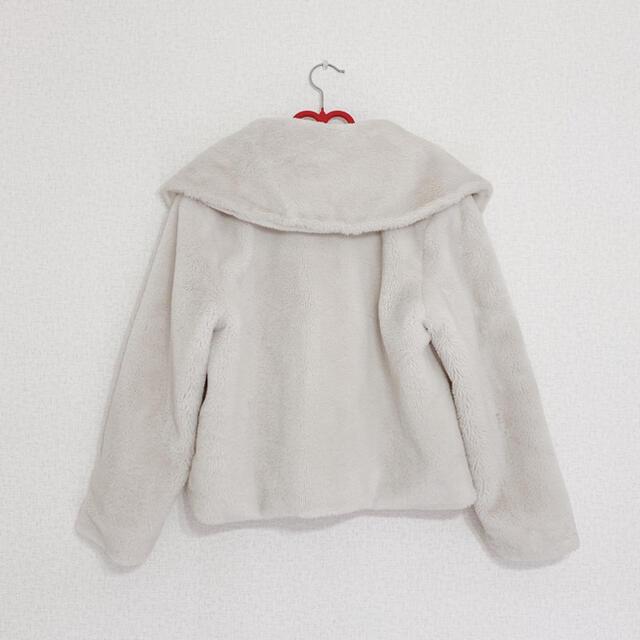 Honey mi Honey(ハニーミーハニー)のビッグカラーフェイクファーコート レディースのジャケット/アウター(毛皮/ファーコート)の商品写真