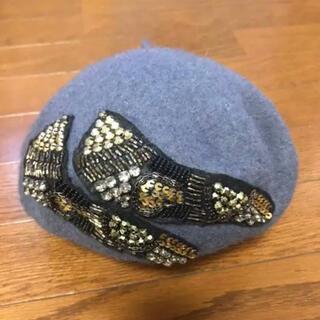 レイビームス(Ray BEAMS)のRay Beams  ビジュー ベレー帽(ハンチング/ベレー帽)