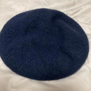 アースミュージックアンドエコロジー(earth music & ecology)のベレー帽 ネイビー(ハンチング/ベレー帽)