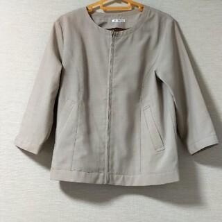ハニーズ(HONEYS)の新品 Sサイズ ノーカラージャケット スーツ ハニーズ ベージュ レディース(ノーカラージャケット)