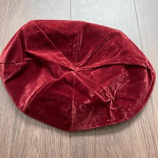 グリーンパークス(green parks)のベロアベレー帽(ハンチング/ベレー帽)