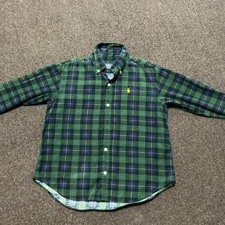 POLO RALPH LAUREN - ラルフローレン140  お洒落な冬素材シャツ
