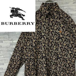 BURBERRY BLACK LABEL - 【激レア】バーバリーブラックレーベル BDシャツ 刺繍ロゴ 総柄 L