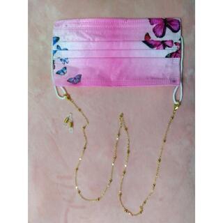 ②ピンク風蝶々☆彡奇麗でかわいいマスクストラップです♪ ★ネックレス★(その他)