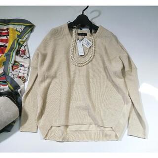 スコットクラブ(SCOT CLUB)の定価15500円 LASUD バックタック リブスリーブ ニット 日本製(ニット/セーター)