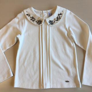 アナスイミニ(ANNA SUI mini)のANNA SUI mini アナスイミニ ビジュー シャツ カットソー 未使用(Tシャツ/カットソー)