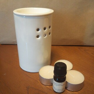 ムジルシリョウヒン(MUJI (無印良品))の無印 アロマポット キャンドル アロマオイル セット(アロマポット/アロマランプ/芳香器)