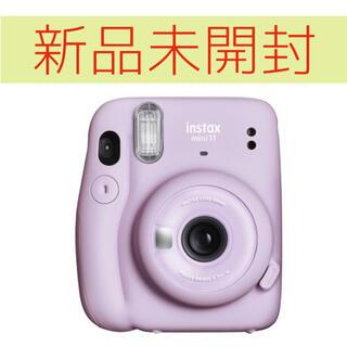 フジフイルム(富士フイルム)の新品★instax mini 11 パープル(フィルムカメラ)