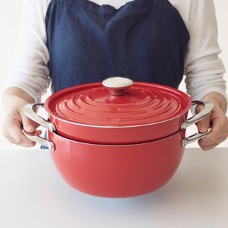 マイヤー(MEYER)の【新品未開封】MEYER マイヤー 両手鍋 24cm レッド(鍋/フライパン)