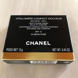 シャネル(CHANEL)の【新品】CHANEL ヴィタルミエール ドゥスール コンパクト 22ベージュロゼ(ファンデーション)