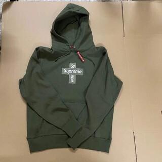 Supreme - シュプリームSupreme cross box logo hooded オリーブ