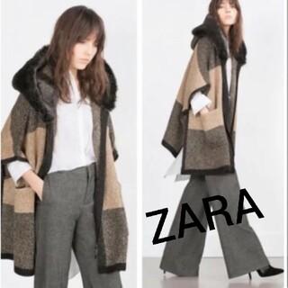 ザラ(ZARA)のZARA ザラ★デザインニットポンチョ コート(ニットコート)