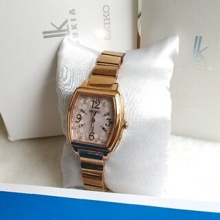 セイコー(SEIKO)のセイコールキア 電波ソーラー  ことりっぷパリのコラボモデルレディース(腕時計)